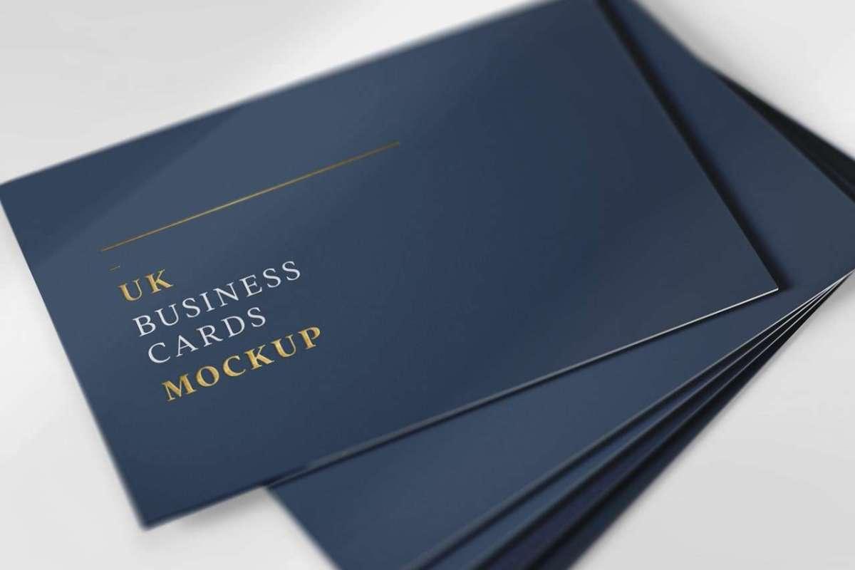UK Business Cards Mockup