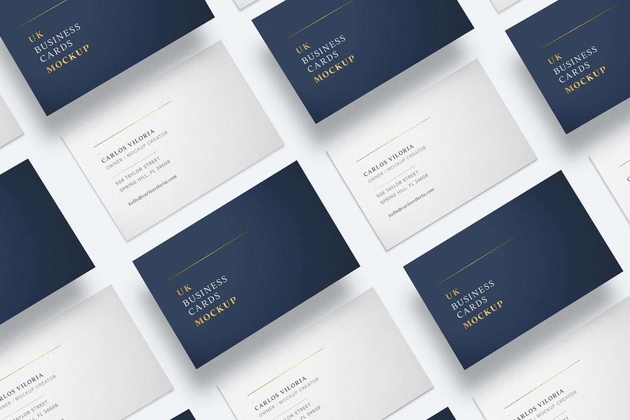 UK Business Cards Mockup 03