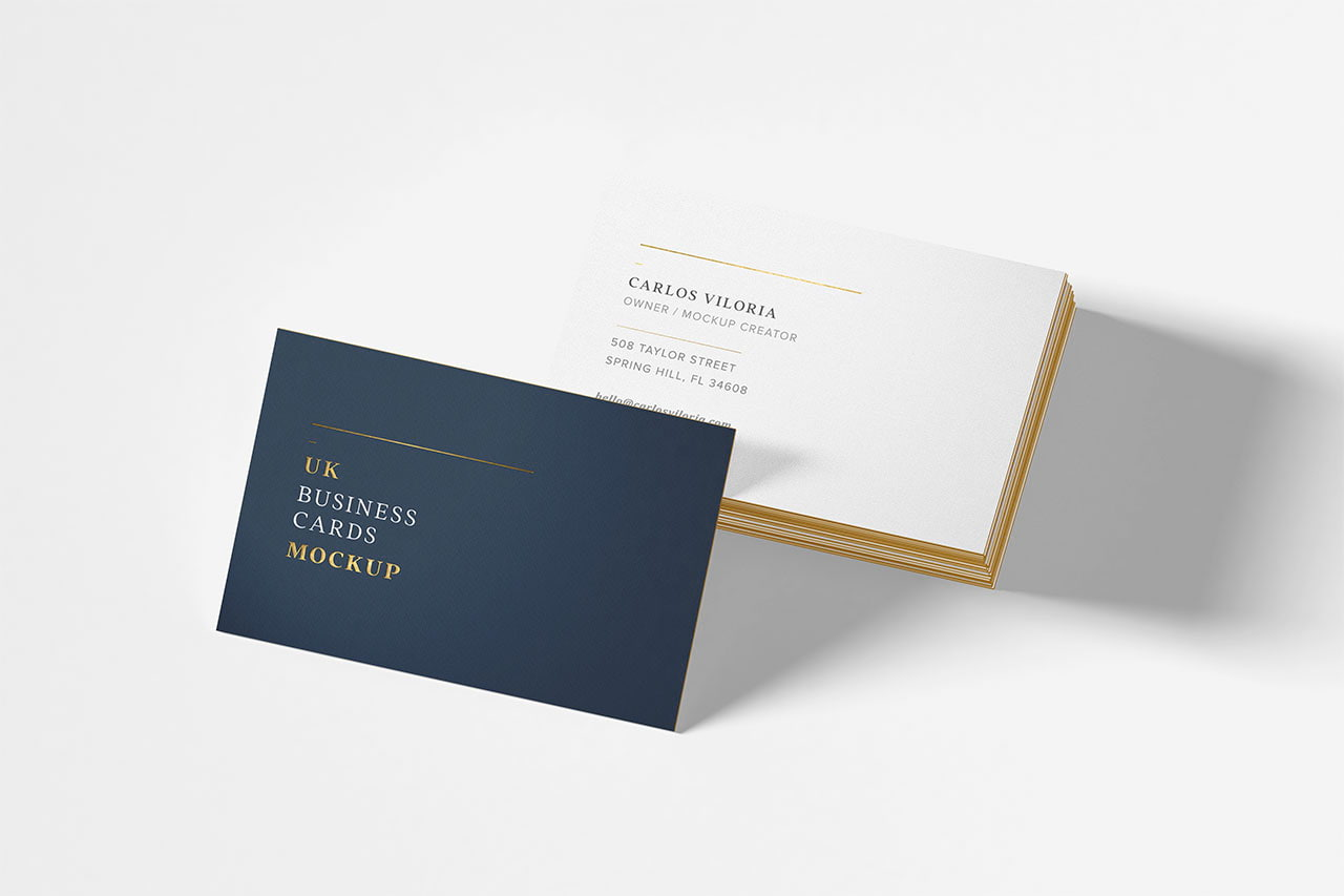Pinterest Simple UK Card Mockup