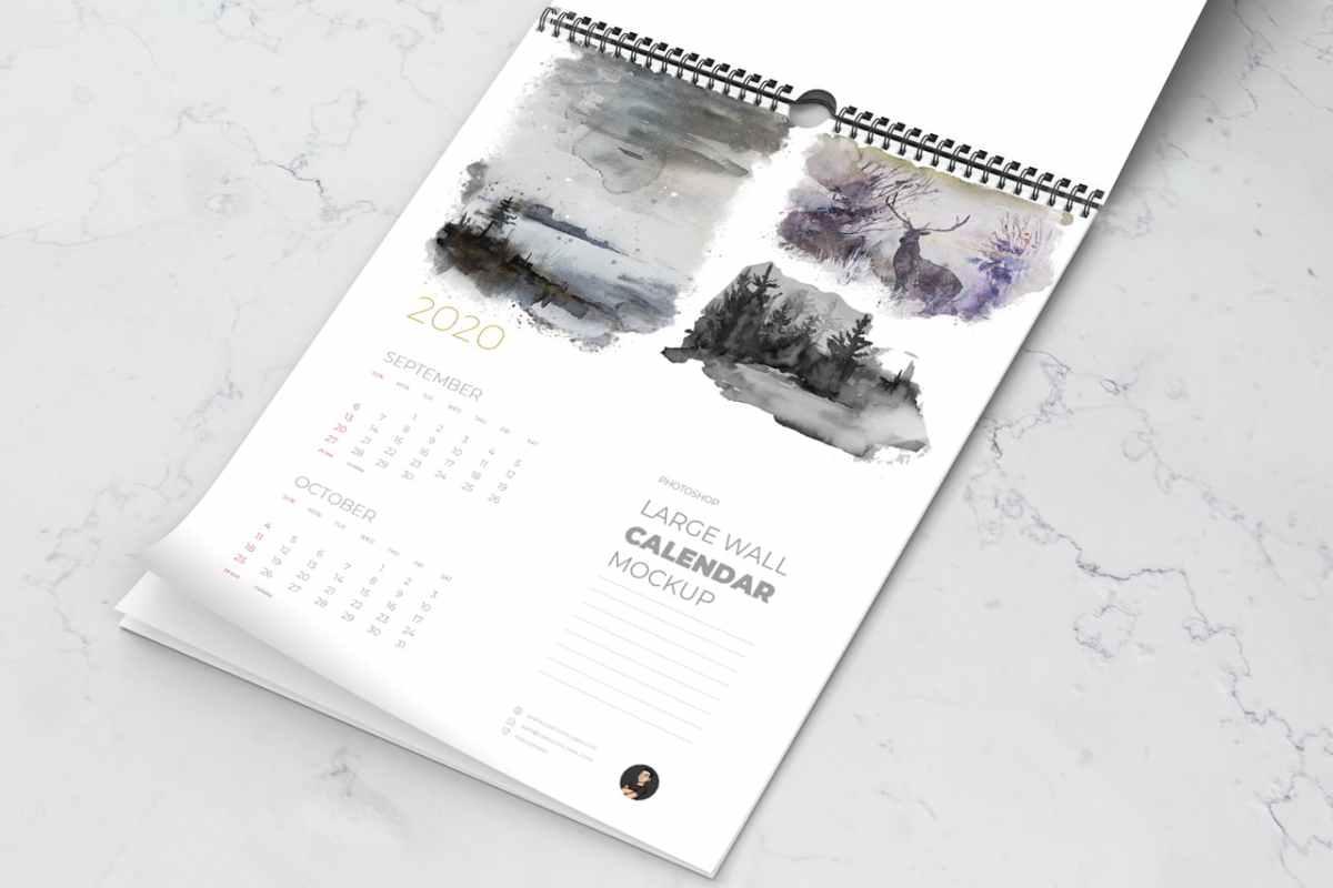 Wall Calendar Mockup