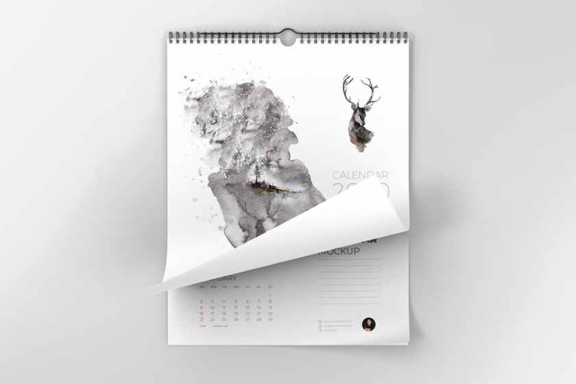 Large Wall Calendar Mockup