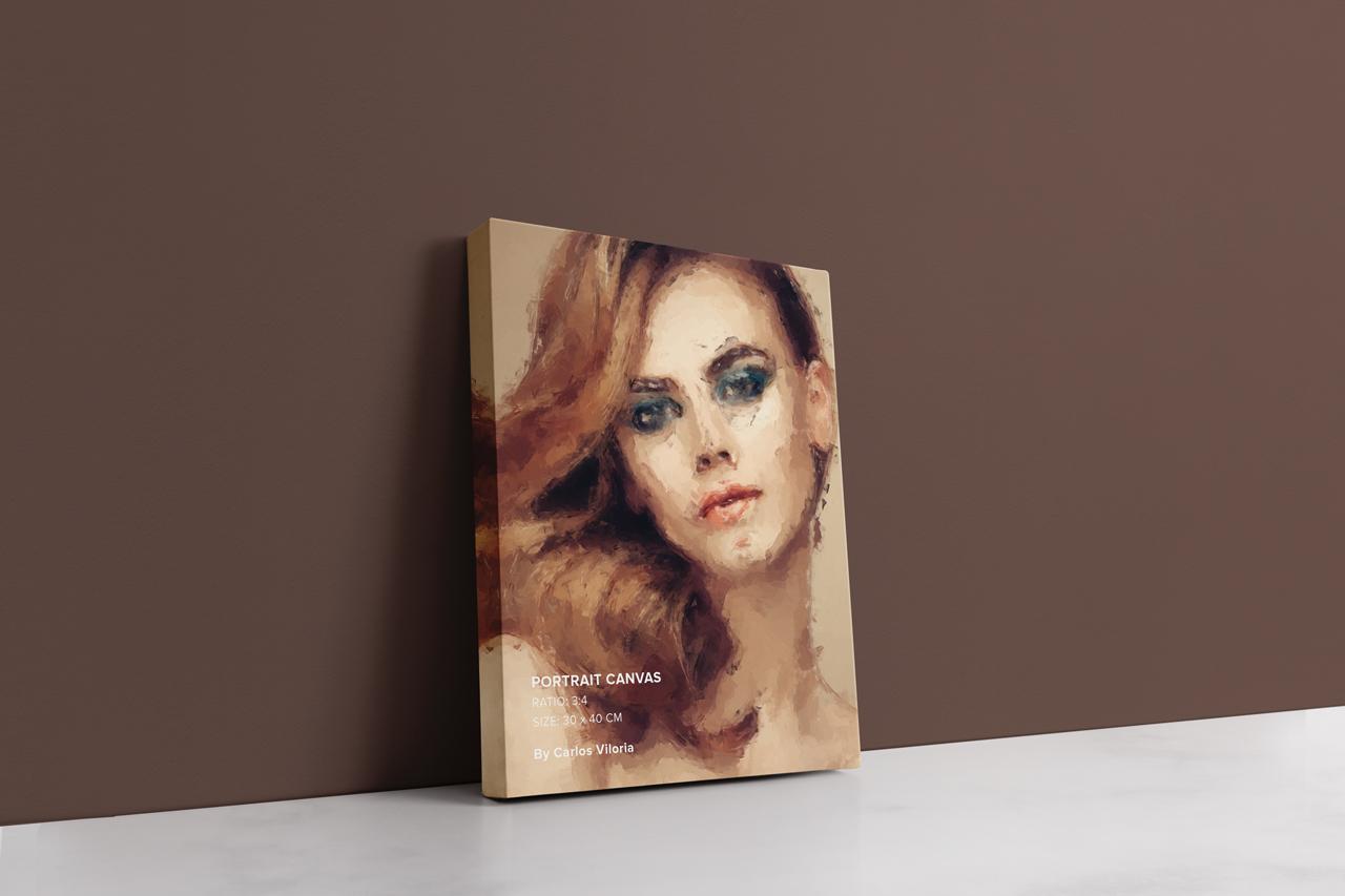 Portrait Canvas Ratio 3x4 Mockup