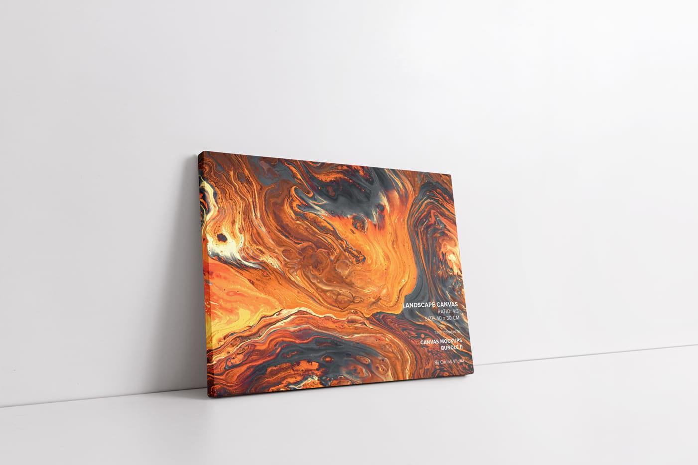 Thin Side landscape canvas mockup
