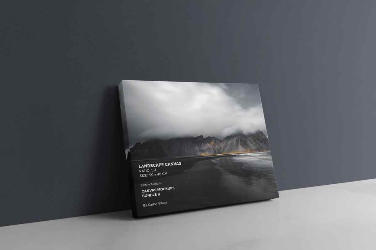 Landscape Canvas Ratio 5x4 Mockup