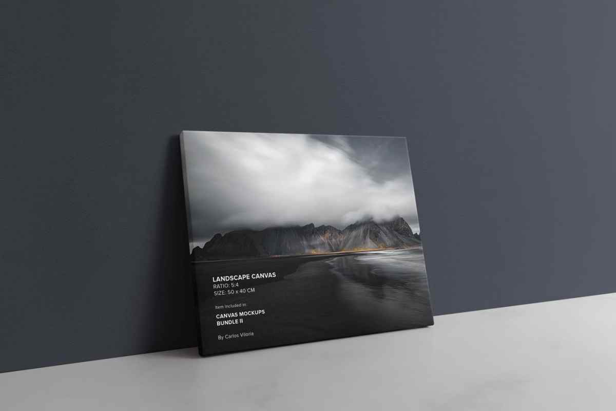 Slim Side Landscape Canvas Mockup