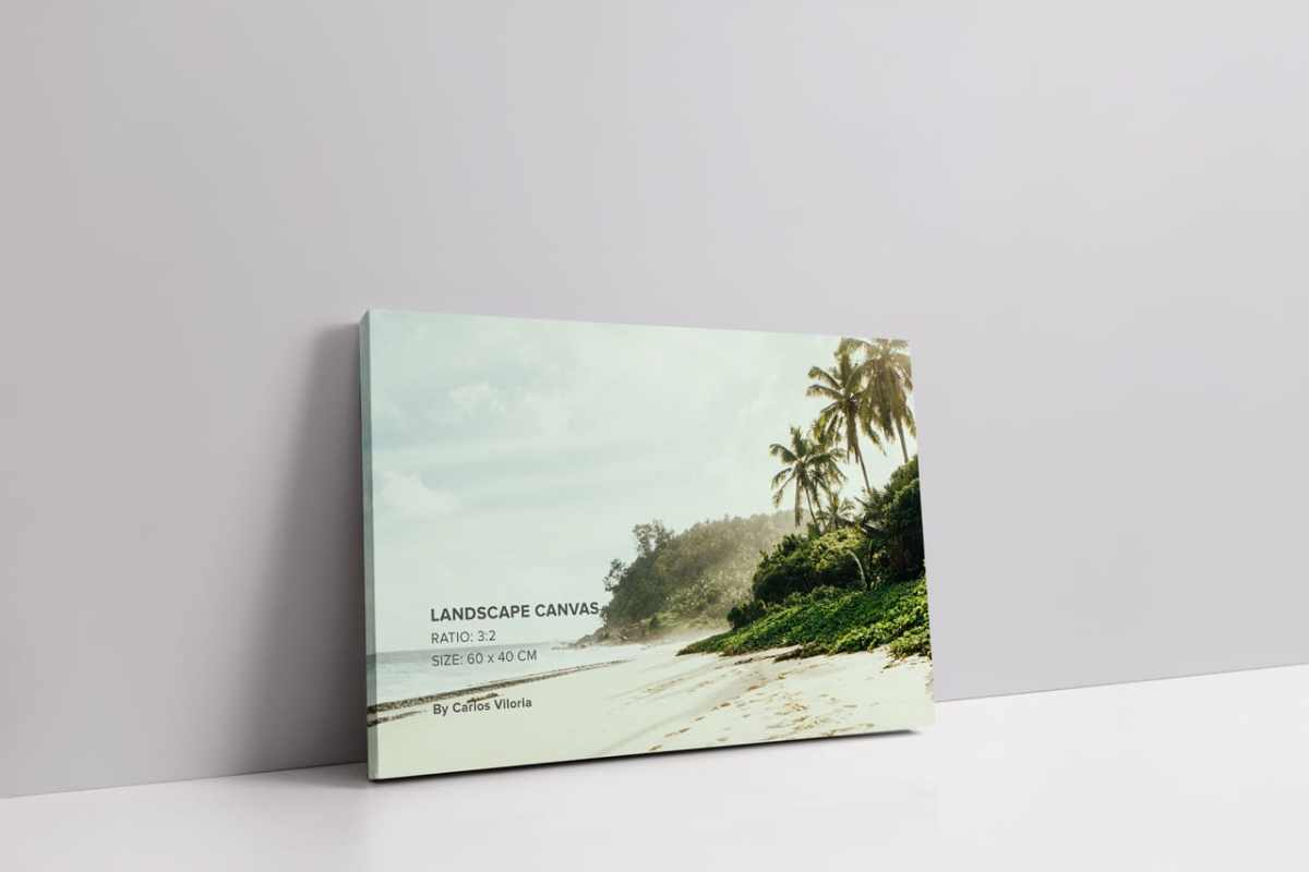 Slim Wrap Landscape Canvas Mockup