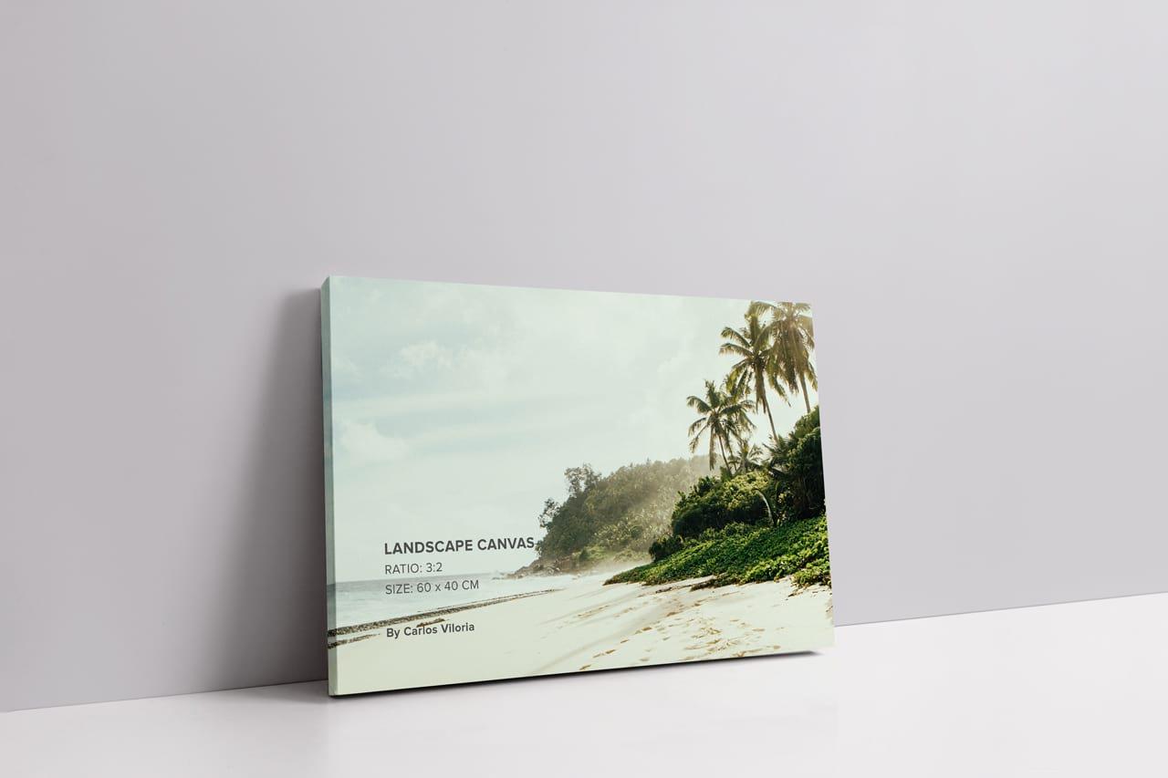 Slim Wrap Landscape Canvas Mockup