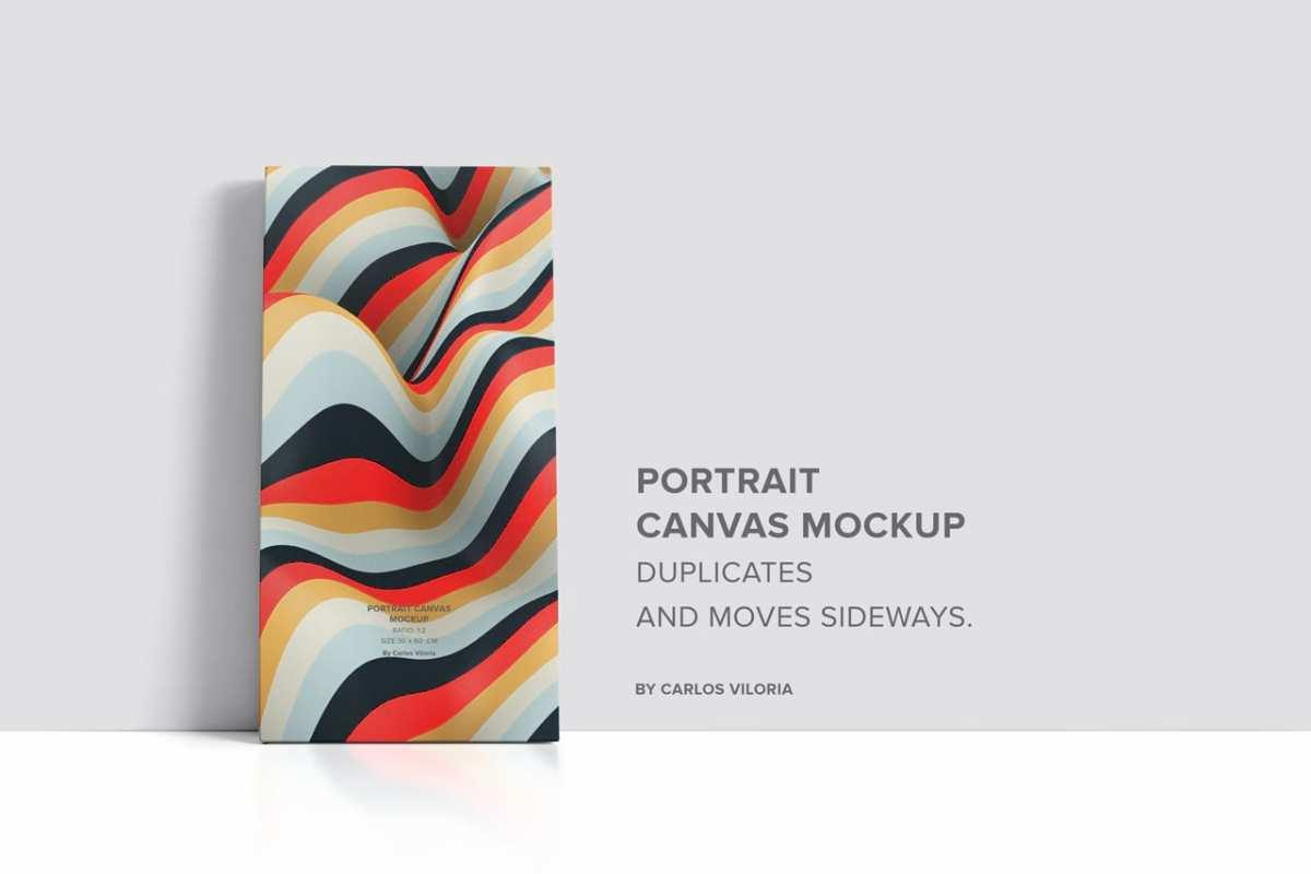 Portrait Vertical Canvas Ratio 1x2 Mockup