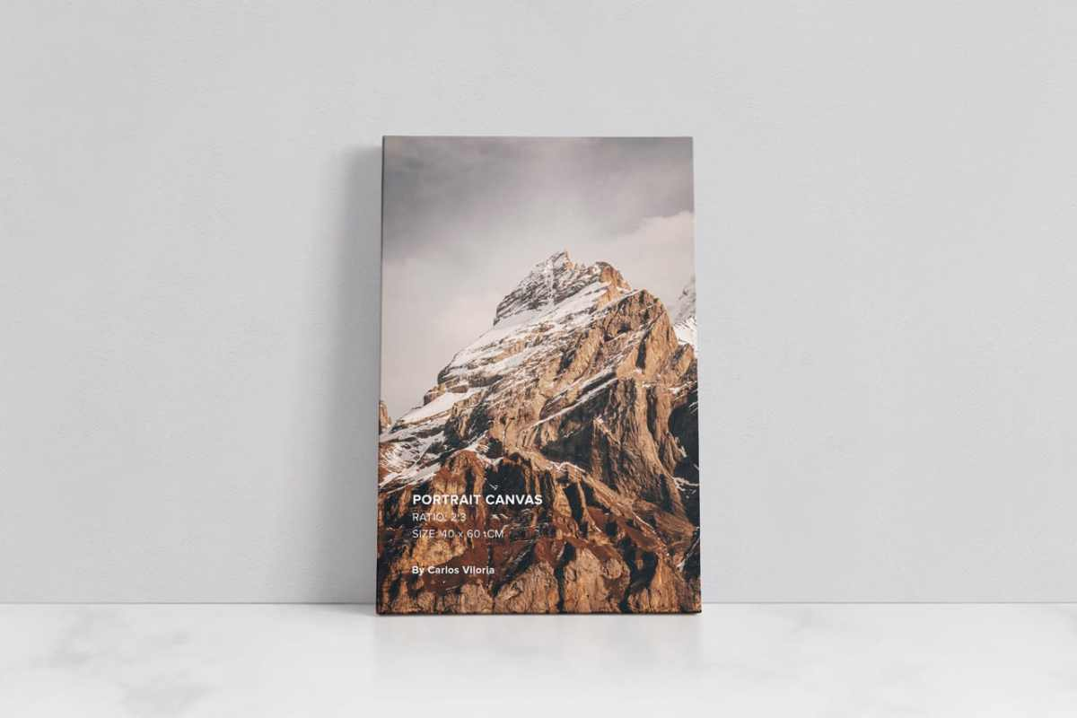 Portrait Canvas Mockup Ratio 2x3