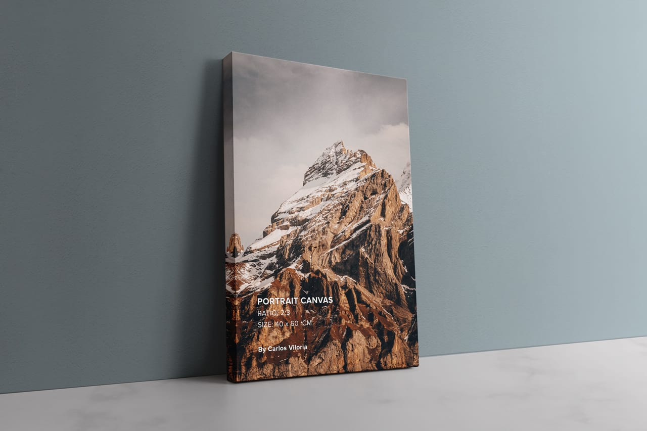 Portrait Canvas lying on the wall