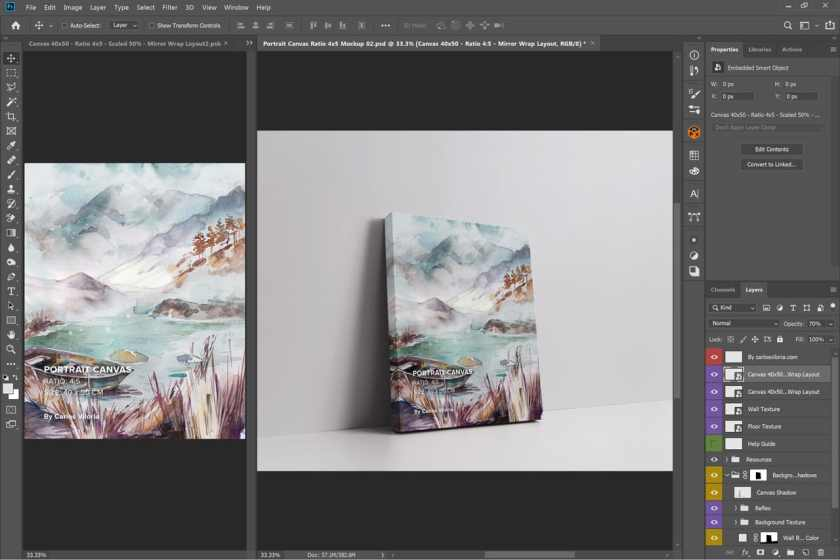 Portrait Canvas Ratio 4×5 Mockup 02 2