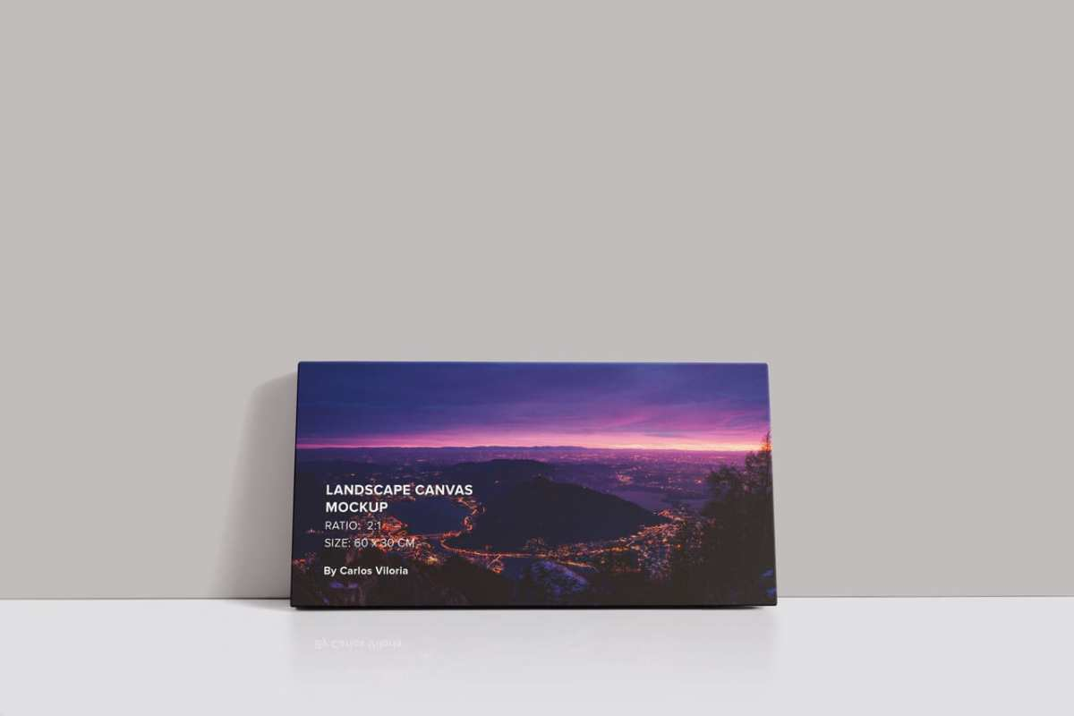 Front Landscape Canvas Ratio 2x1 Mockup