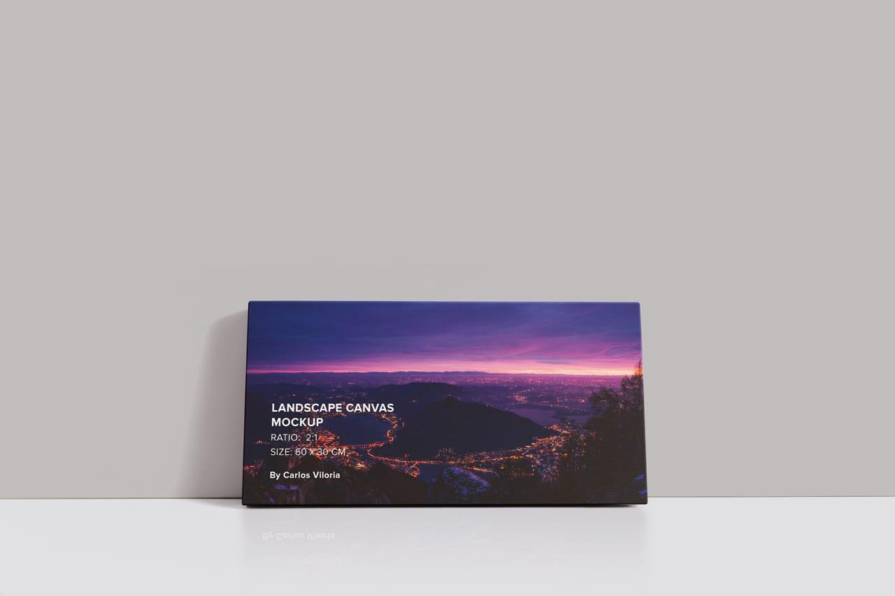Front Landscape Canvas Ratio 2x1 Mockup