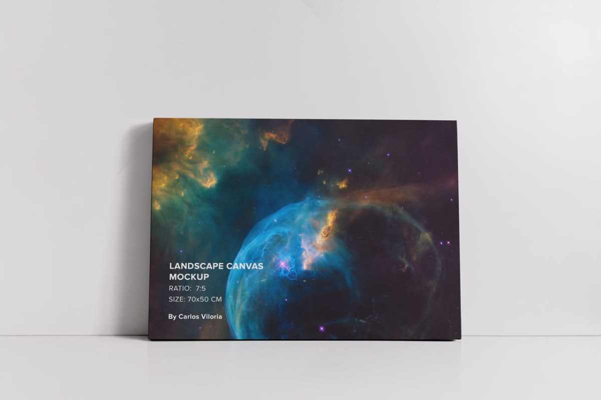 Large Landscape Canvas Mockup