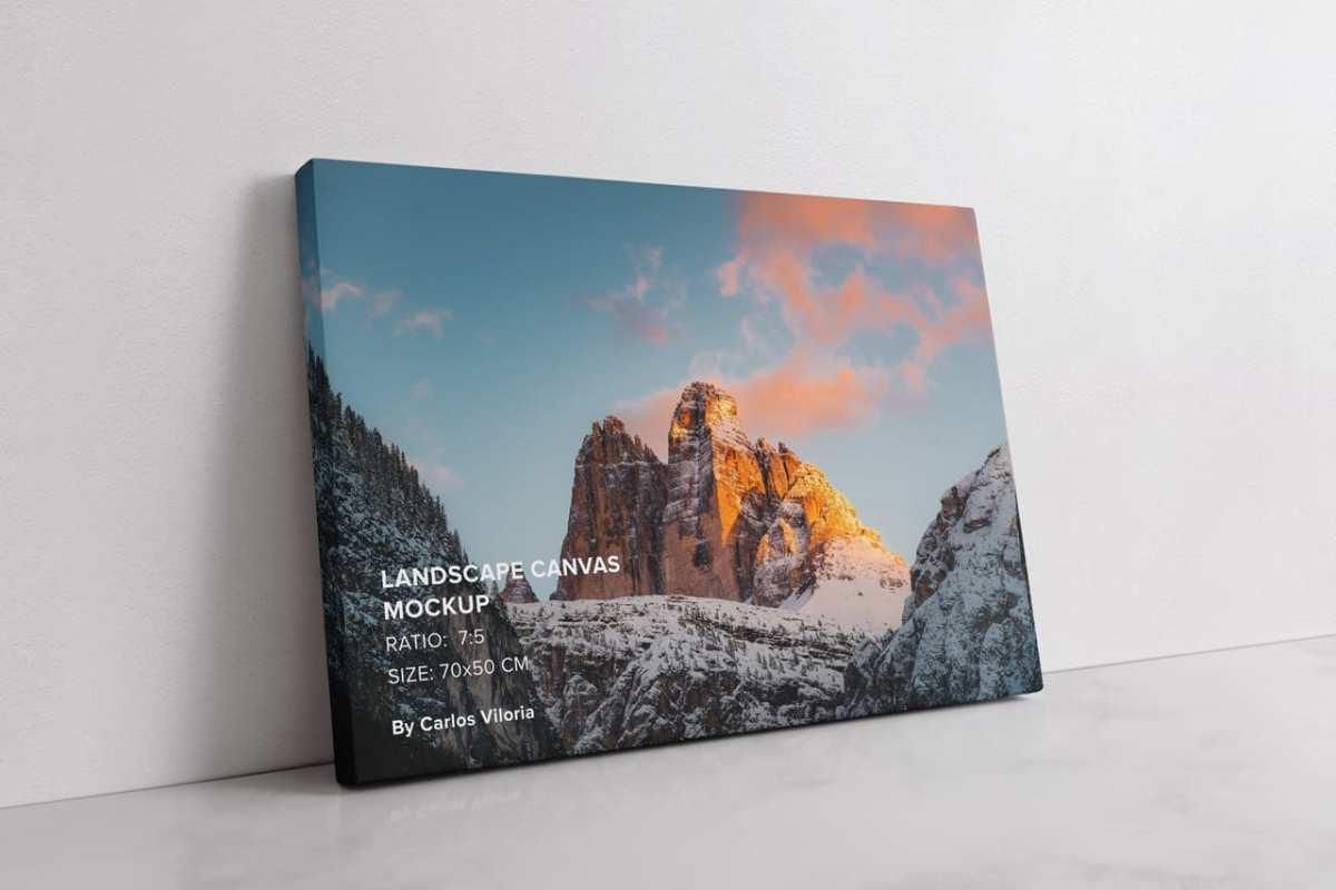 Large Lamdscape Canvas Ratio 7x5 Mockup
