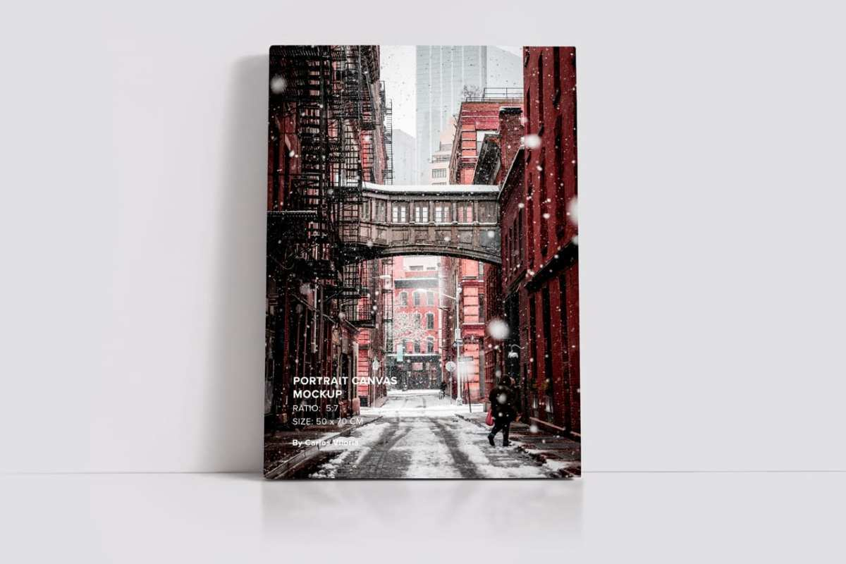 Portrait Canvas Ratio 5x7 Mockup