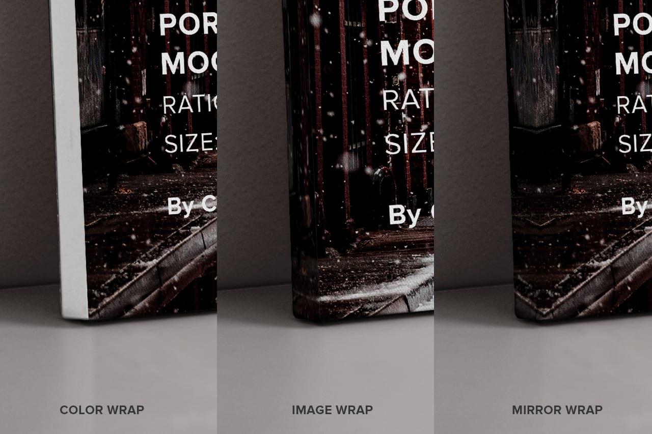Wrap Side Portrait Canvas Ratio 5x7 Mockup