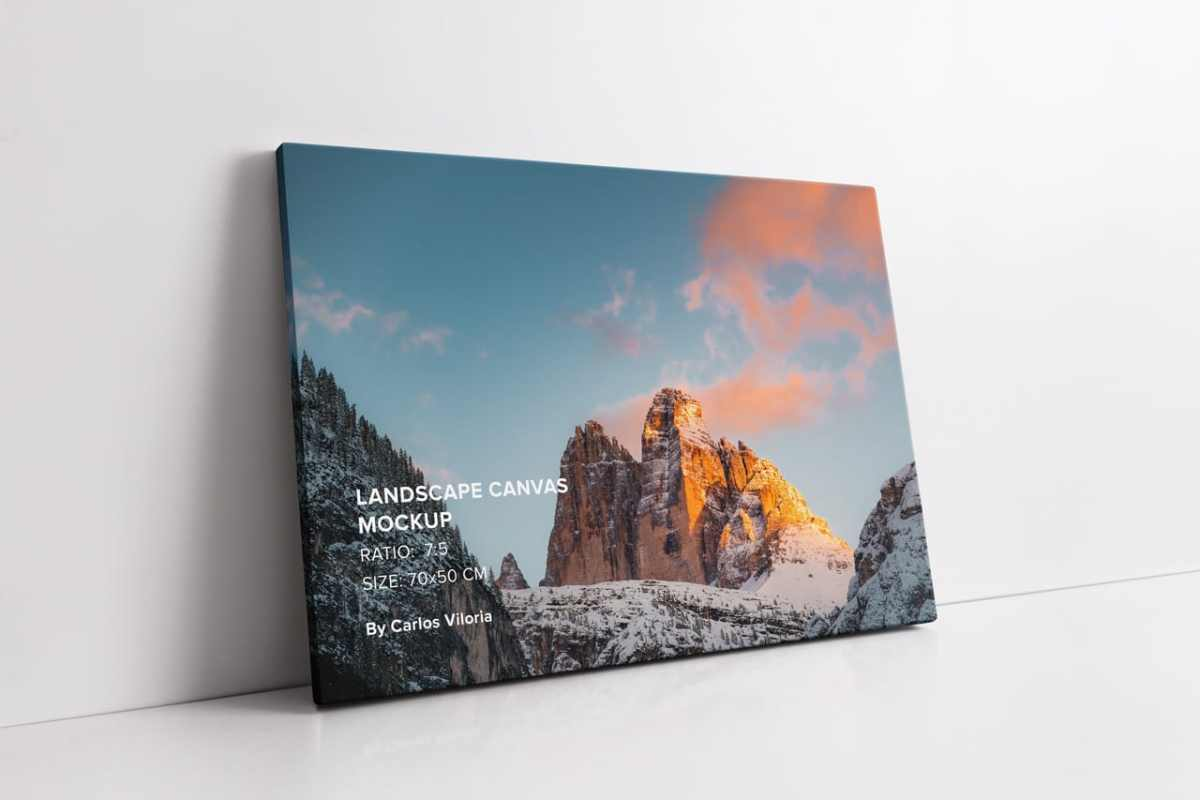 Landscape Thin Canvas Mockup