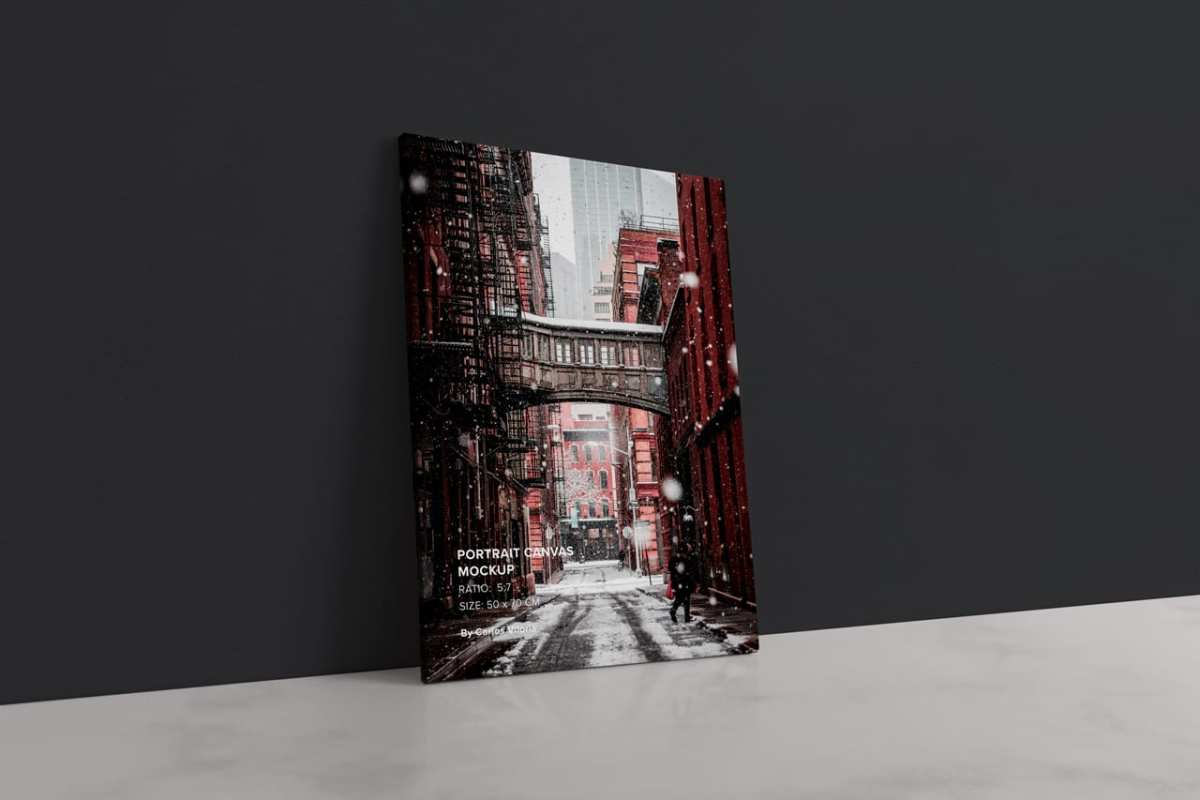 portrait Thin Canvas Mockup