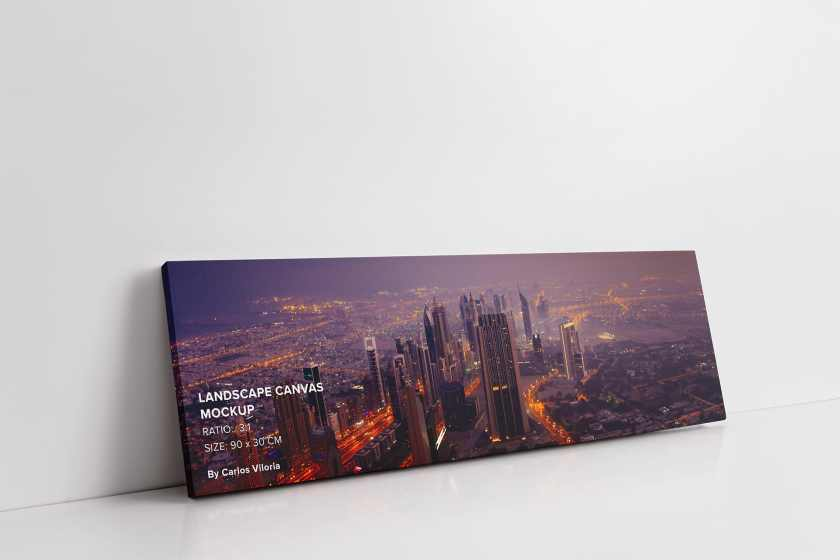 art-wall-Landscape Canvas Ratio 3×1 Mockup-01-by-carlosviloria.com