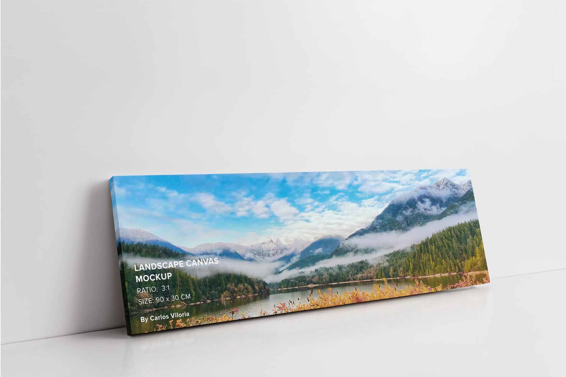 art wall Landscape Canvas Ratio 3x1
