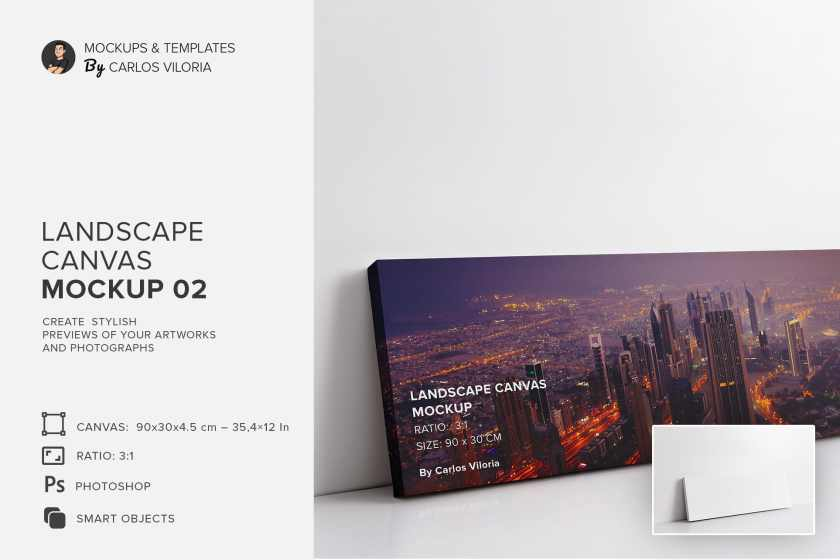 art-wall-Landscape Canvas Ratio 3×1 Mockup 02-cover-by-carlosviloria.com