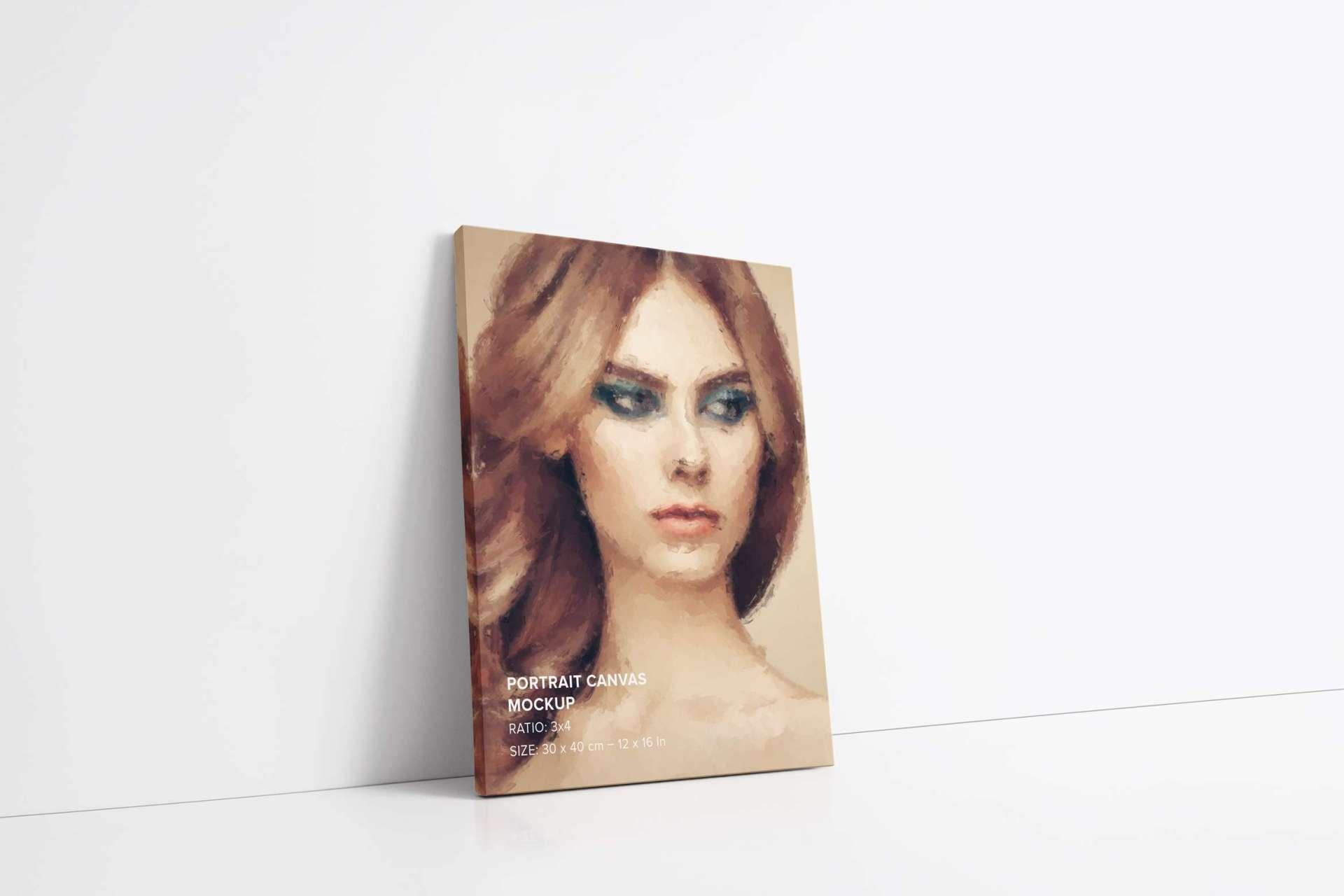 3x4 Portrait Canvas Mockups Set Pack