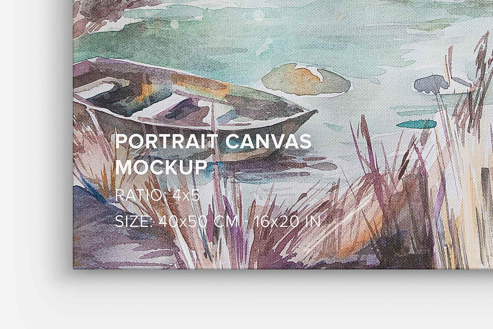 Portrait Canvas Mockup Set