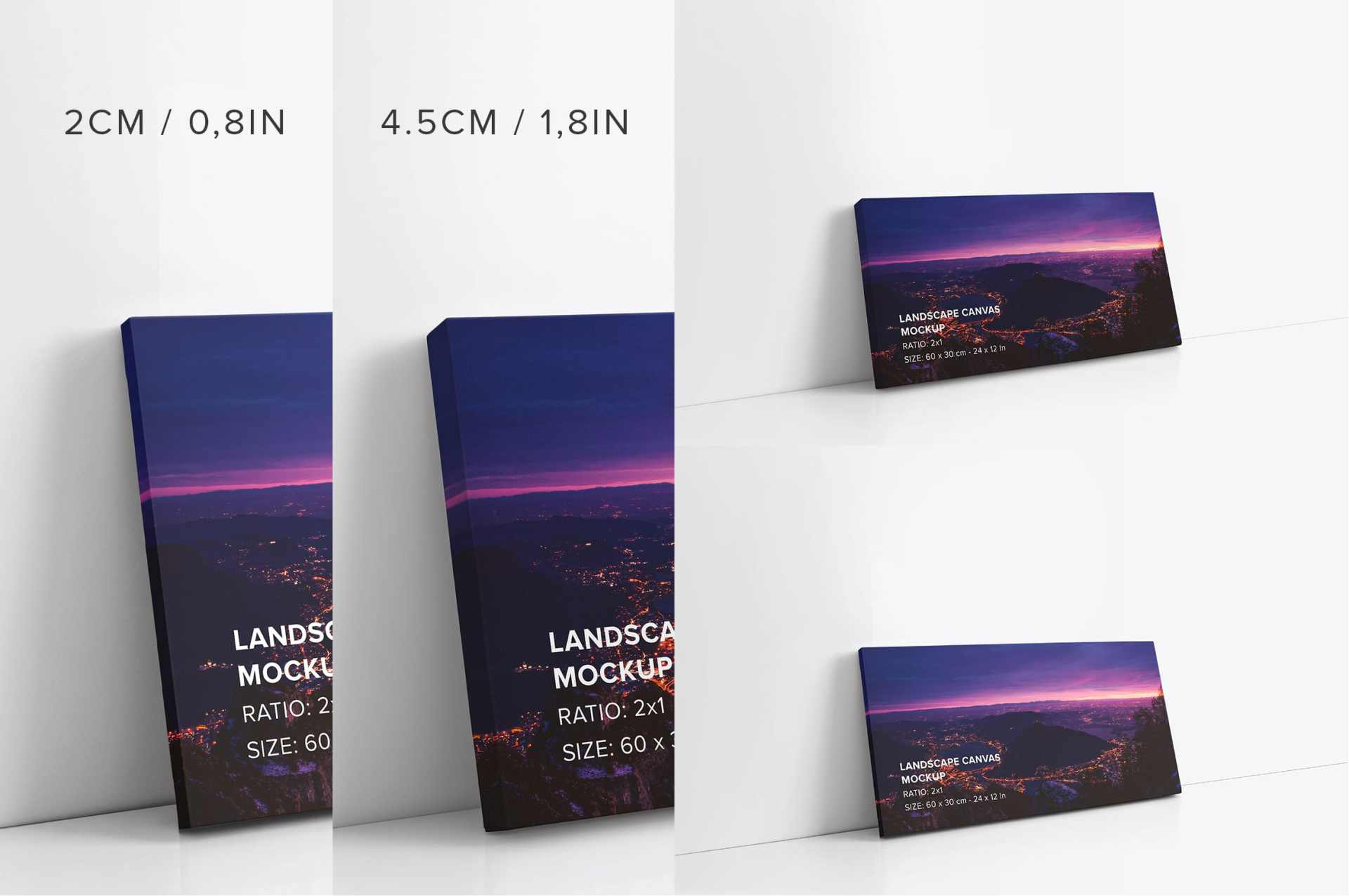 2x1 Landscape Canvas Mockups Bundle