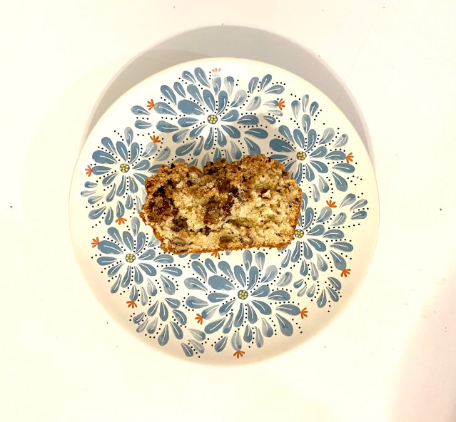 Photo of the inner part of the coffee cake.