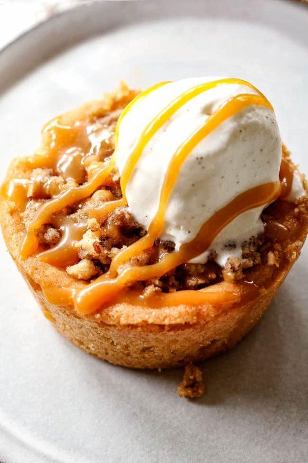 Mini Caramel Apple Pies With Sugar Cookie Crust Video