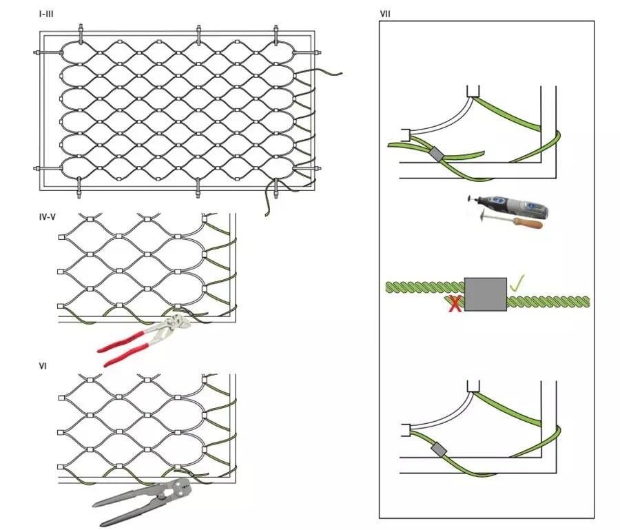 montage-rechthoekig-kabelnet