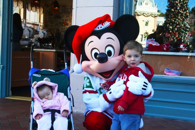 Mickey Mouse ready for Christmas in Disneyland Carltonaut's Travel Tips