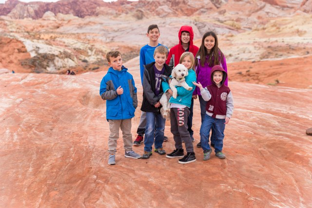 Kids at the Fire Wave in Valley of Fire State Park in Nevada Carltonaut's Travel Tips