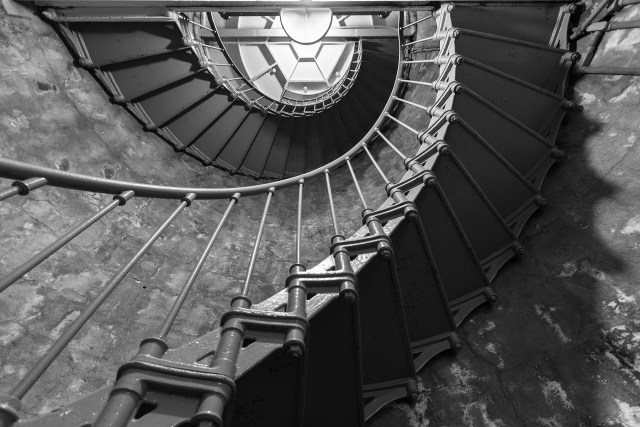 Stairs leading up to the top of North Head Lighthouse at Cape Disappointment Carltonaut's Travel Tips
