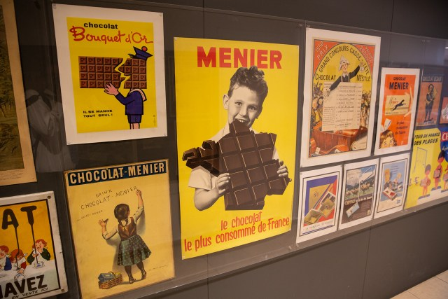 Chocolate ads at Choco Story Paris Museum Carltonaut's Travel Tips