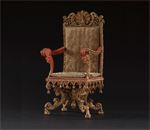 9745 Red Regency Gilt Chair