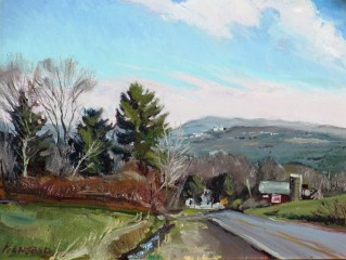 """Ithaca College, oil on canvas, 16"""" x 20"""""""