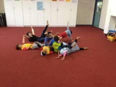 Children doing creative dance.