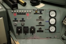 Control rod switches on B Reactor console.
