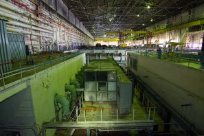 Unit 2 condensate pump well next to No. 3 Turbogenerator at Chernobyl.