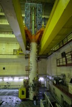 The crane-mounted fuel loading and unloading machine in Unit 2 at ChNPP.