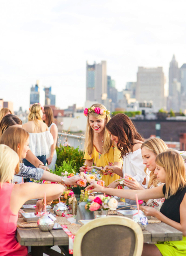 Party Goals: DIY Flower Crown Party 6