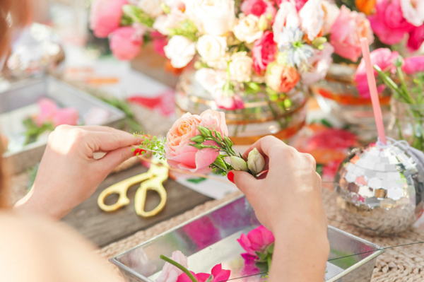 Party Goals: DIY Flower Crown Party 8