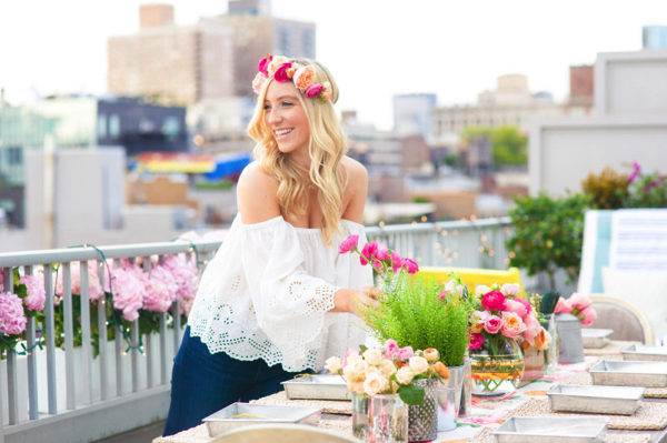 Party Goals: DIY Flower Crown Party 9