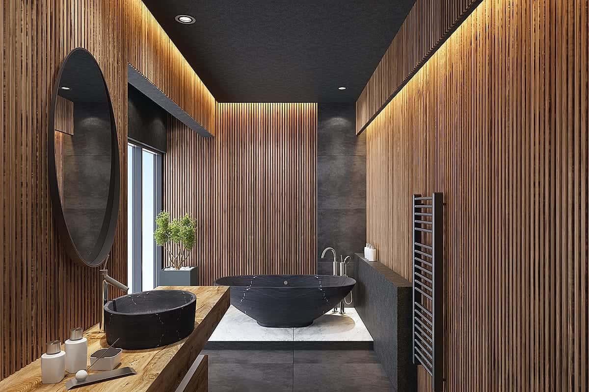 bathroom renovation high end wood