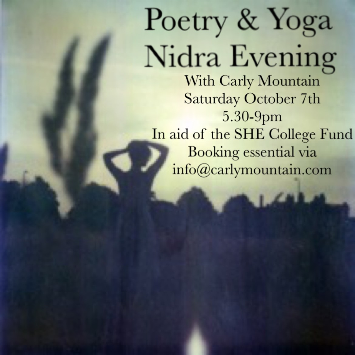 Embracing Autumn – Poetry & Yoga Nidra Evening Saturday October 7th 2017