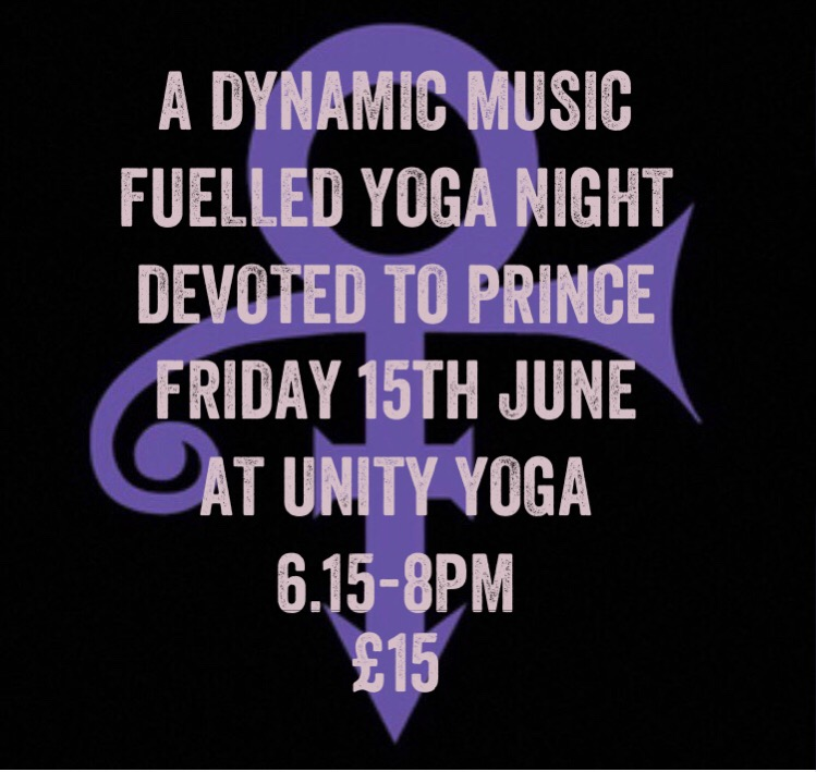 A Dynamic Music Fuelled Yoga Night Devoted to Prince