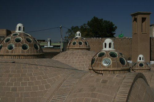 The distinctive and unique rooftop of Hammam-e Sultan Mir Ahmad