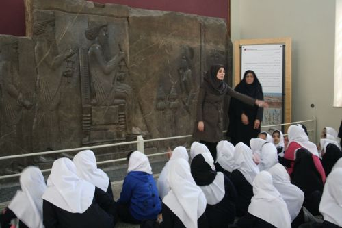 Local school children at the National Museum of Iran